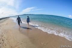 Long sandy beach ideal for walking.