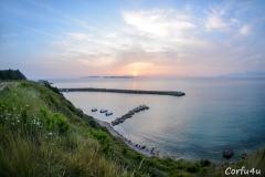 Marvelus sunset over the Diapontia Islands.