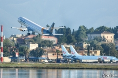 Saturday is classed as one of the busiest days of the week at Corfu airport.