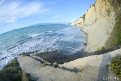 In order to go on the beach you need to walk on a steep road and then go down some stairs.