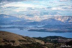 Albania from Corfu Pantokrator